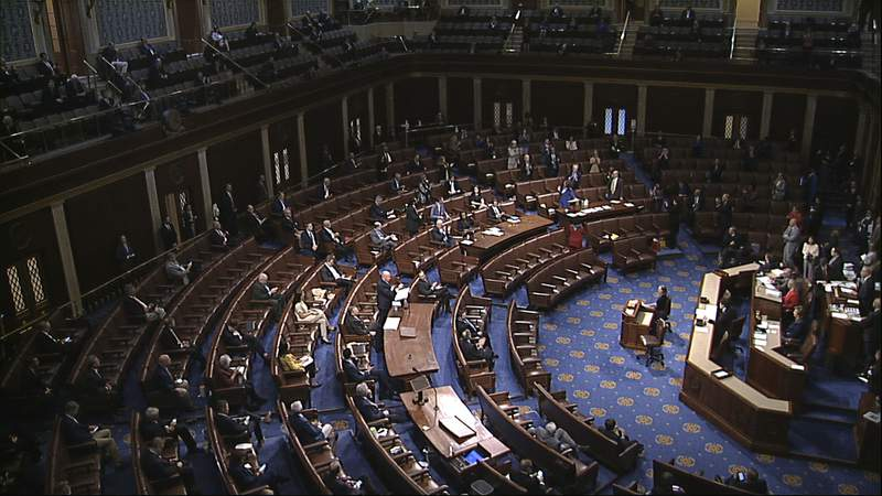 The floor of the House of Representatives at the U.S. Capitol in Washington (AP)