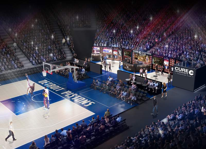 Courtside Club rendering.