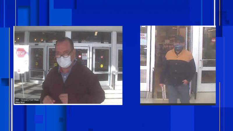 Oakland County deputies searching for two individuals in stealing a wallet from a 77-year-old woman in Rochester Hills. Photos provided by Oakland County Sheriff's Office.