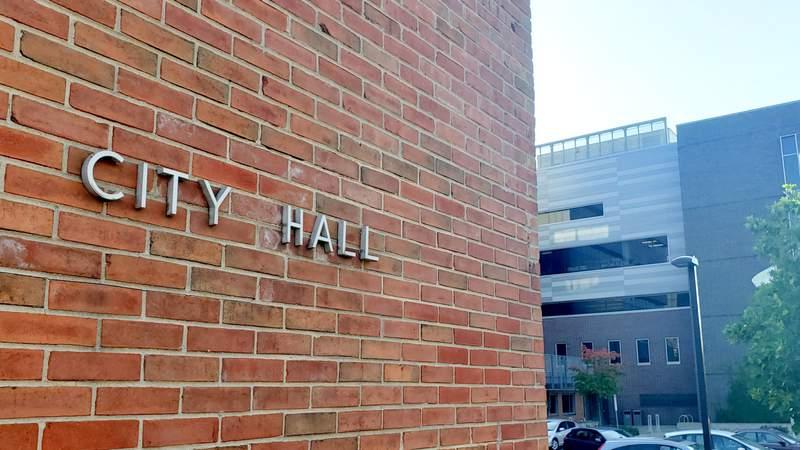 Larcom City Hall at 301 E. Huron St. in Ann Arbor, Michigan.