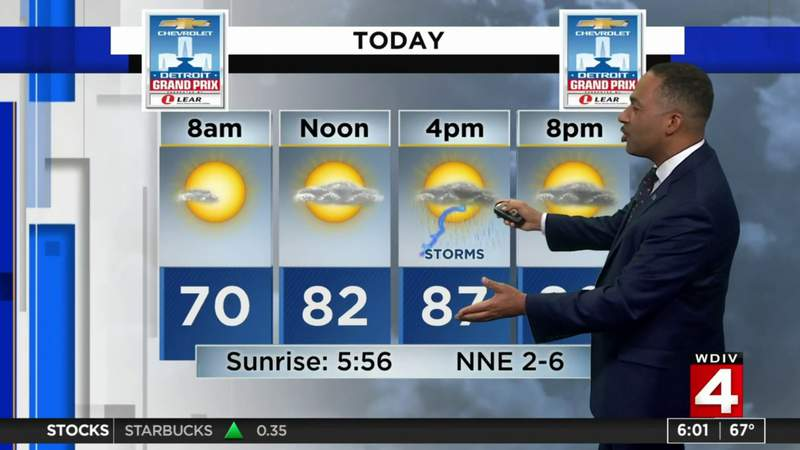 Metro Detroit weather: Storms possible Saturday afternoon