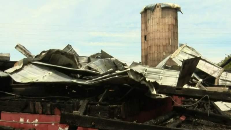 Historic Cady-Boyer Barn in Canton Township burns down
