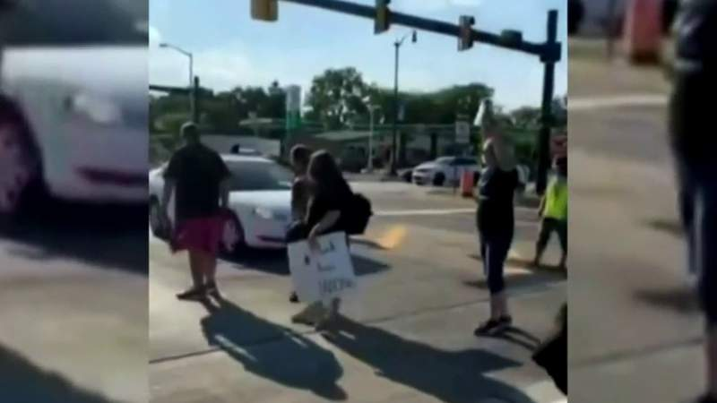 Taylor police identify woman accused of driving car through protesters