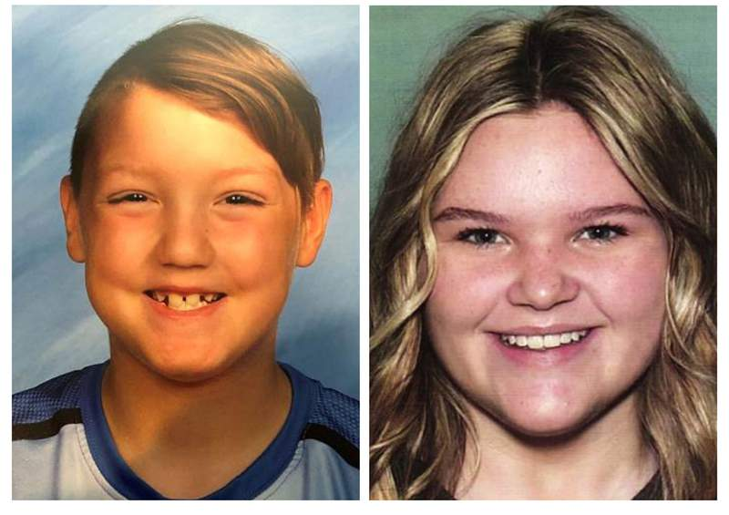 """FILE - This combination photo of undated file photos, released by National Center for Missing & Exploited Children, show missing children Joshua """"JJ"""" Vallow, left, and Tylee Ryan. Police say the mother of two missing kids has been found in Hawaii, along with her new husband, but the children still have not been located. Seventeen-year-old Tylee Ryan and 7-year-old Joshua JJ Vallow have been missing since September 2019, and police say their mother, Lori Vallow Daybell, and her new husband Chad Daybell, lied to investigators about where the children are. When police returned to their home in Idaho to question them again, the adults had disappeared.  (National Center for Missing & Exploited Children via AP, File)"""