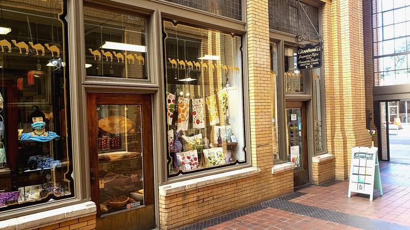 Caravan Gift Shop has been in Nickels Arcade since 1927.