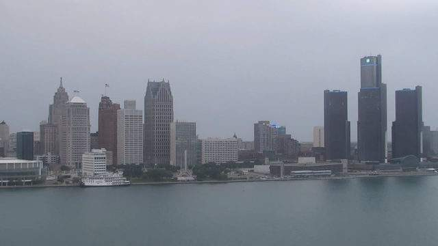 View of Detroit from the Windsor sky camera on July 29, 2019 at 8:10 p.m. (WDIV)