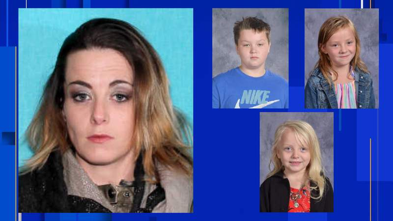 Kimberly Barrentine went missing April 23, 2021, with three of her children.