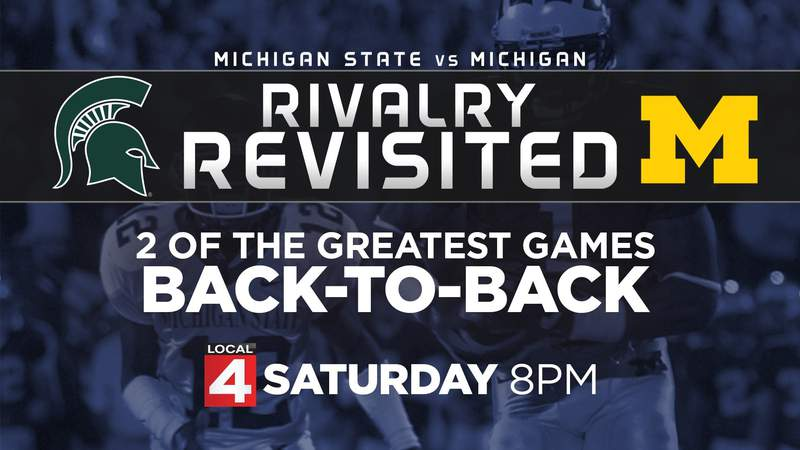 Saturday at 8 - Two of the greatest rivalry games in Michigan v Michigan State history!