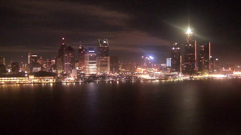 View of Detroit from the Windsor sky camera on Nov. 16, 2019 at 8:00 p.m.
