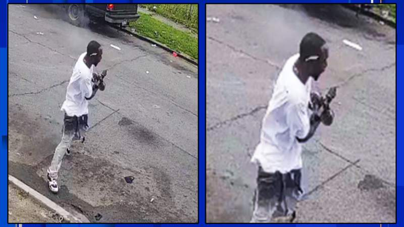 Police are looking for a man in connection with a triple-shooting that happened June 20, 2021.