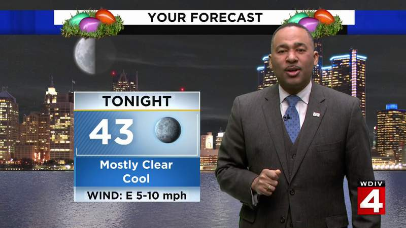 Metro Detroit weather: Temperatures near the 70s Easter Sunday