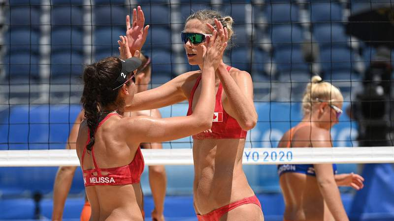 Melissa Humana-Paredes and Sarah Pavan earned a victory in their first match of the Tokyo Olympics.