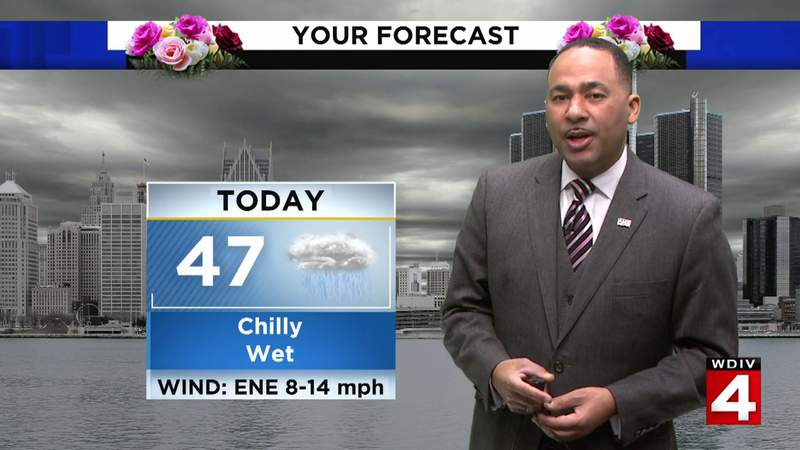 Metro Detroit weather: Rainy and chilly Sunday afternoon ahead