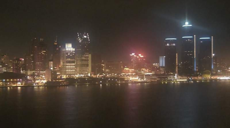 View of Detroit from the Windsor sky camera on Nov. 29, 2020 at 7:00 p.m.