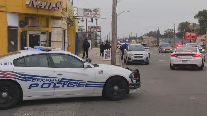 The scene where three teenagers were shot Nov. 10, 2019, in Detroit.