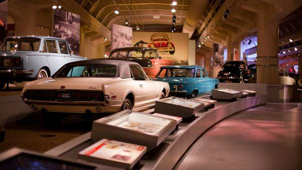 "A photo of The Henry Ford Museum's ""Driving America"" exhibit. Photo courtesy of the museum's website."