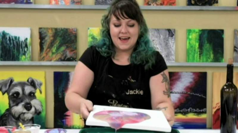Painting with a Twist Presents 'Paint Pouring' on Live in the D
