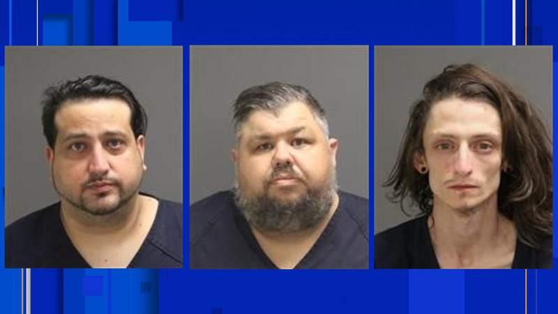 Steven Michael Robiadek, Thomas David Miller, James Crawford Walker (Pictured Left to right)