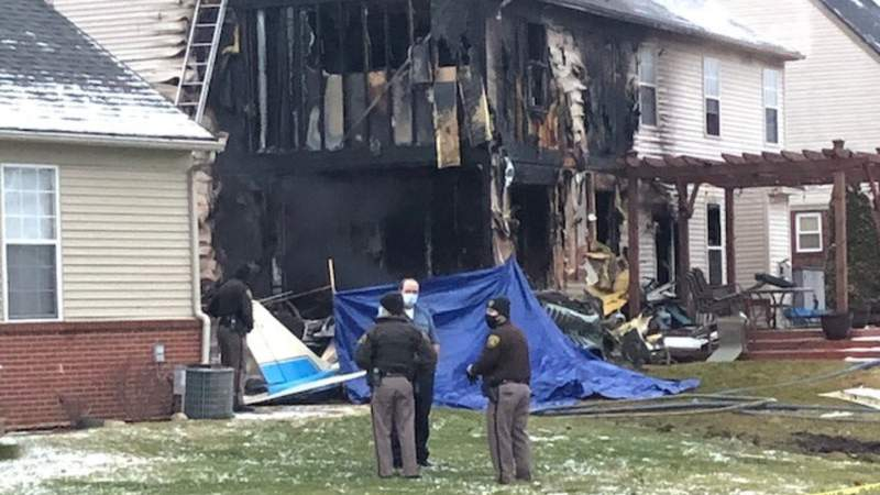 Emergency crews are investigating after a plane crashed into a Lyon Township home on January, 2, 2021.