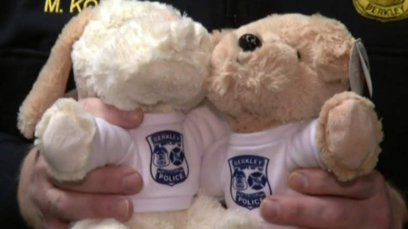 Berkley police department using stuffed animals to ease tension with children