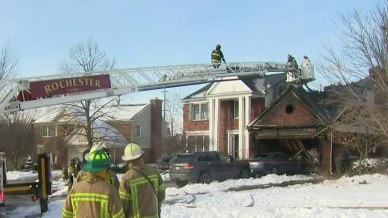 Investigation underway after Rochester Hills home catches fire