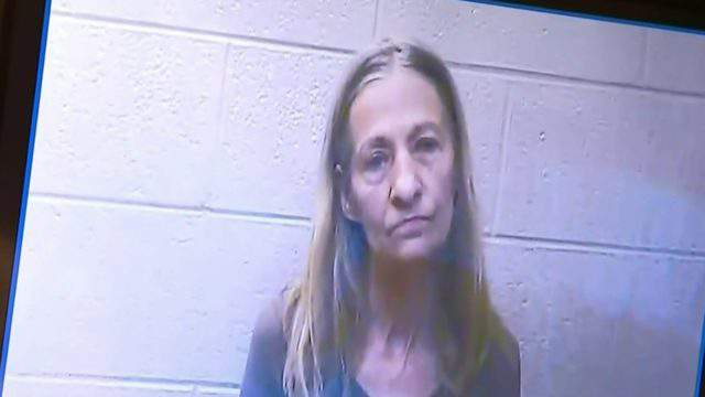 Ex-Macomb County Clerk Karen Spranger at her arraignment for larceny charge. (WDIV)