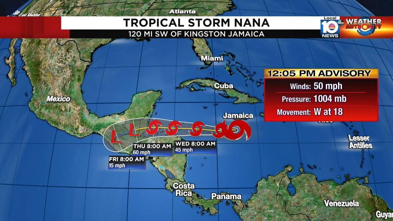 Tropical Storm Omar Forms As Nana Approaches Central America