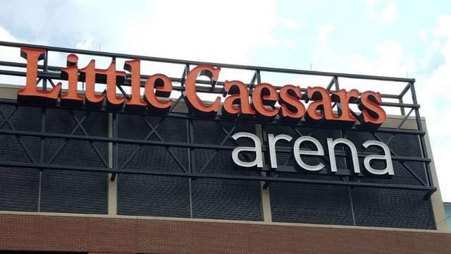 Little Caesars Arena sign. (WDIV)