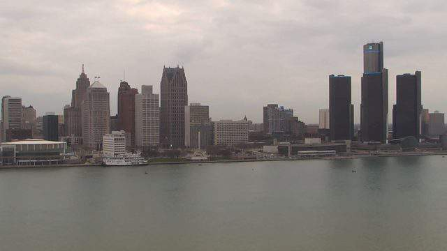 A view of the Detroit riverfront on April 18, 2019. (WDIV)