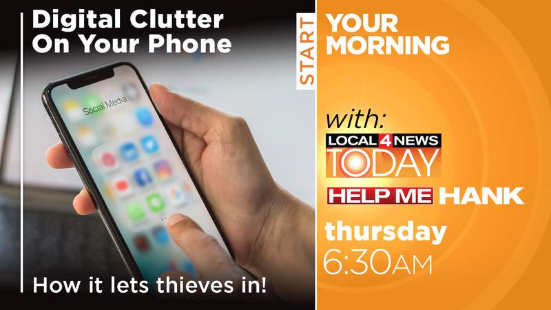 Digital Clutter and Hackers on Local 4 News Today
