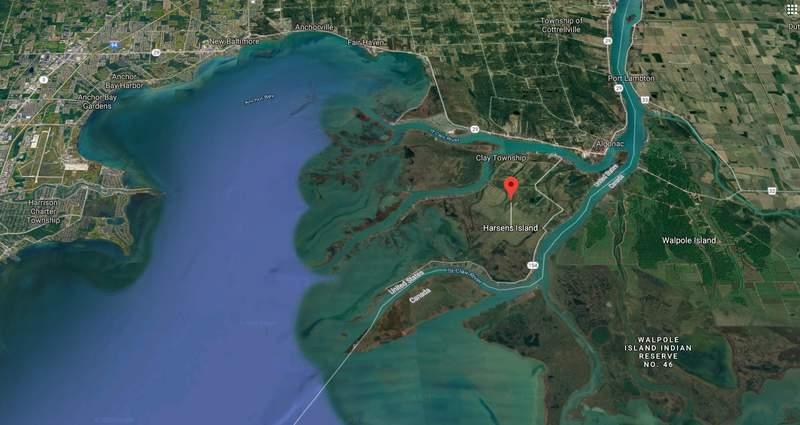 Harsens Island (Google Maps)