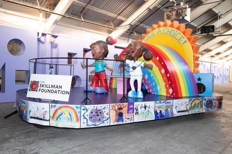 """Malaya Johnson's """"You Have a Choice"""" float won the the 28th Annual Skillman Foundation Float Design Contest for America's Thanksgiving Parade in Detroit."""