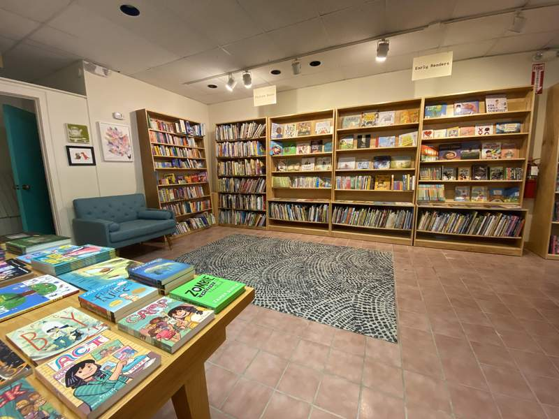 Community reading area at Booksweet in Ann Arbor.