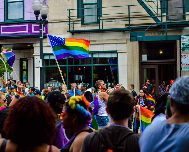 A Pride Parade pre-COVID-19.