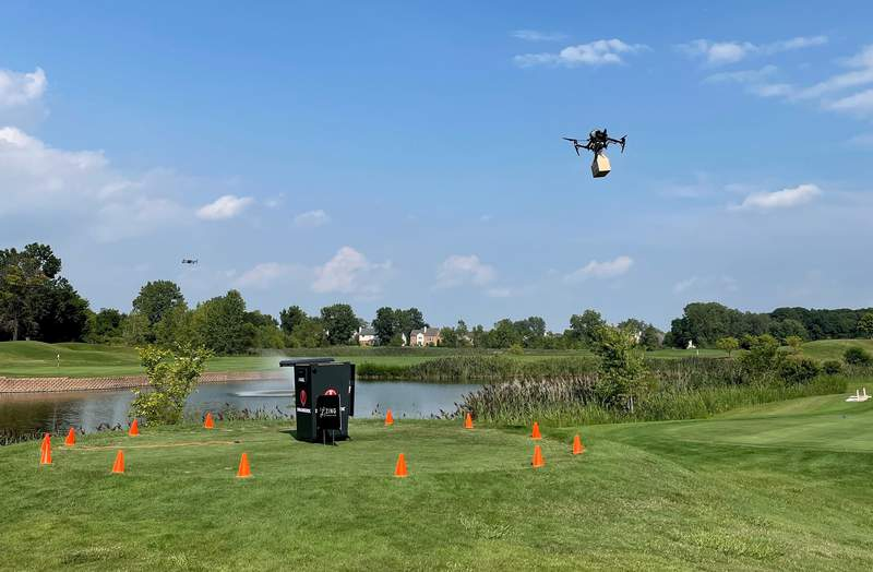 How cool is this drone delivery?