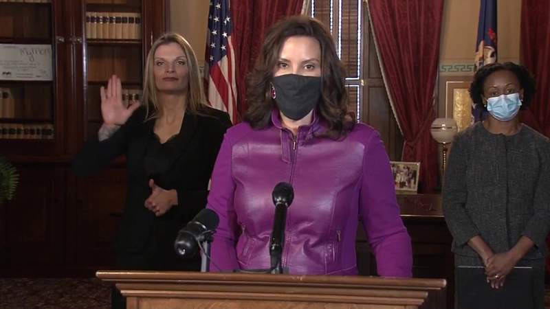 Gov. Whitmer answers question about COVID-19 restrictions in Michigan