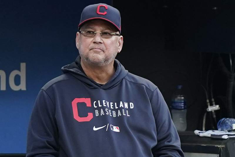 FILE - In this July 9, 2021, file photo, Cleveland Indians manager Terry Francona watches in the fifth inning of a baseball game against the Kansas City Royals in Cleveland. Francona will need several months of rehab to recover from toe surgery, his second operation since stepping aside for the season in July. Francona, who had hip replacement surgery in August, had surgery Tuesday, Sept. 7, 2021, at the Cleveland Clinic. The procedure was to fix his left big toe, which became infected during the offseason. (AP Photo/Tony Dejak, File)