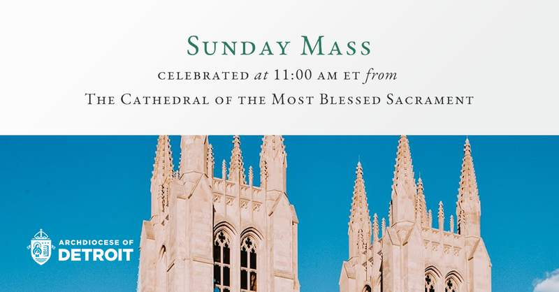 The mass will begin at 11 a.m. Sunday, Oct. 11, 2020.