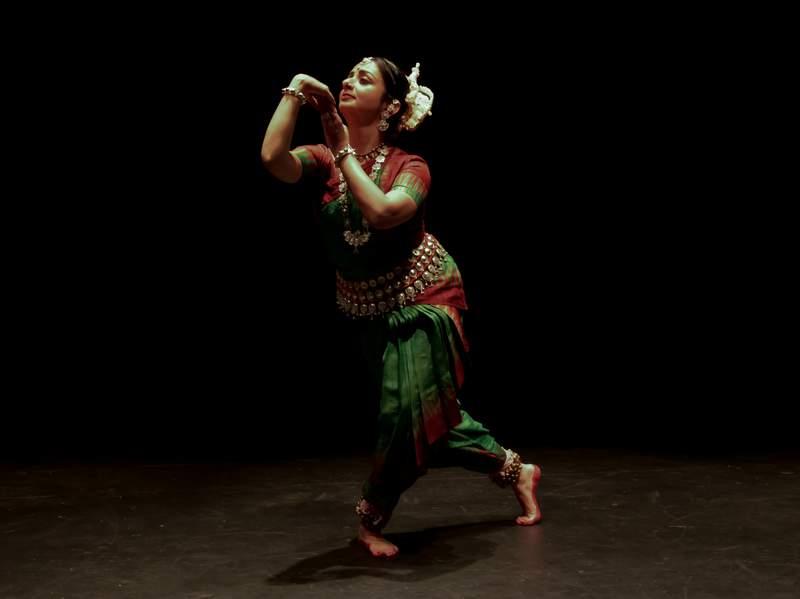 Rasa Festival artistic director Sreyashi Dey performs a traditional Indian dance.