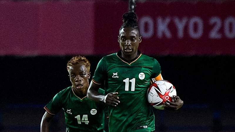 Barbra Banda of Zambia has six goals through two Olympic matches