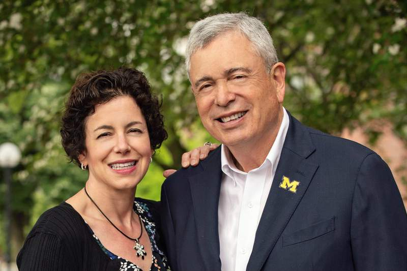 U-M Regent Ron Weiser and his daughter Elizabeth Caswell, for whom the Elizabeth Weiser Caswell Diabetes Institute will be named.