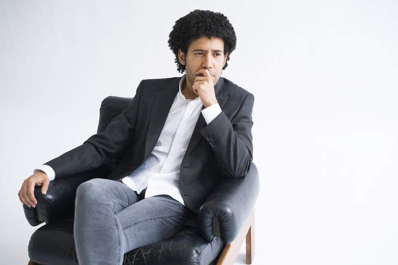 This March 10, 2020 photo shows Venezuelan conductor Rafael Payare who has been hired as music director of the Orchestre Symphonique de Montral starting with the 2022-23 season. (Gerard Collett via AP)