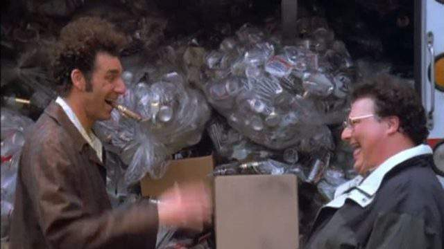 """A screenshot from the famous """"Seinfeld"""" episode in which characters drive to Michigan to return bottles. (NBC)"""
