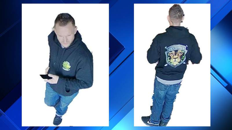 A suspected Sterling Heights lottery ticket thief.