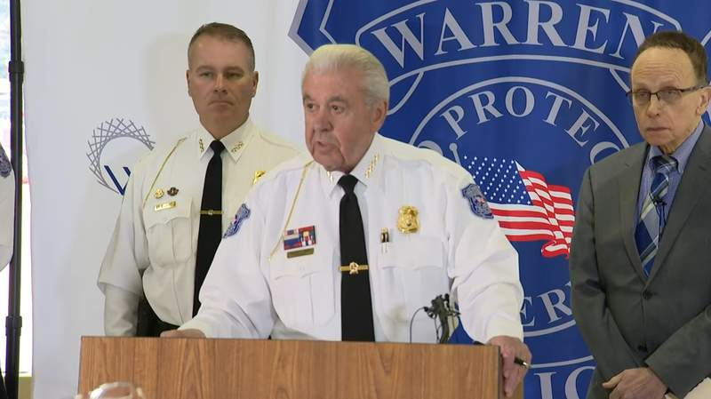 Warren Police Commissioner Bill Dwyer speaks at a news conference about a human trafficking sting operation on Dec. 20, 2019.