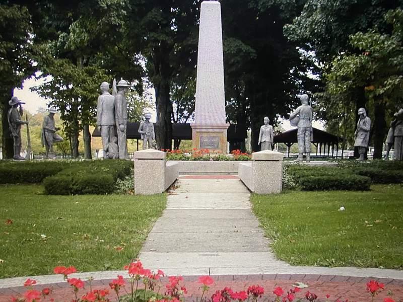 The Veterans Garden of Honor in Allendale Community Park.