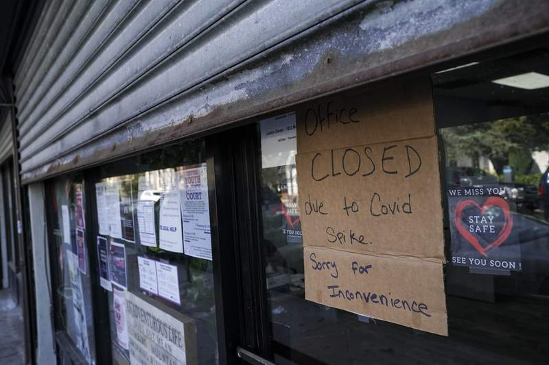 A businesses closed due to the COVID-19 pandemic.