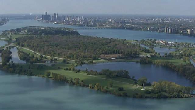 A view of Belle Isle in Detroit (WDIV)