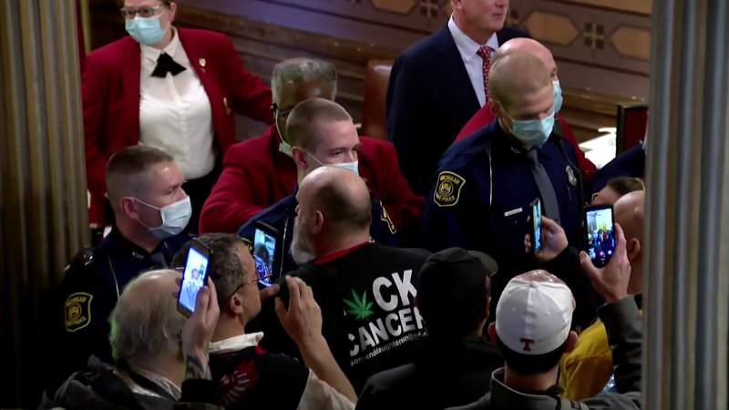 Gov. Gretchen Whitmer, lawmakers critical of 'over the edge' gun-toting protesters