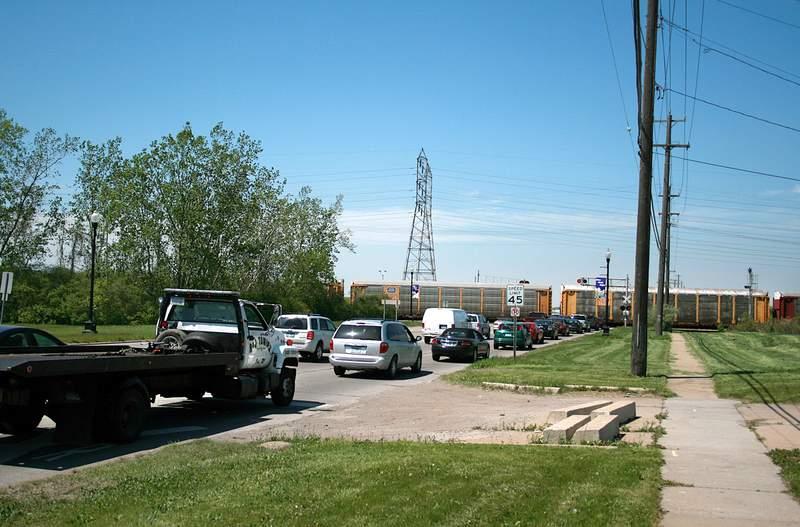 Allen Road traffic backup.